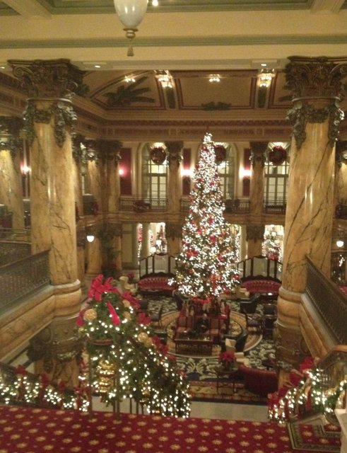 Christmas Jefferson Hotel Palm Court