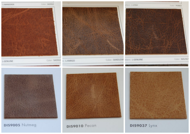 Leather Sofa Swatches