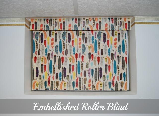 Embellished Plastic Roller Blind