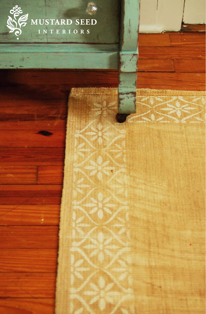 7 diy rug options for renters or the noncommittal the - Mustard seed interiors ...