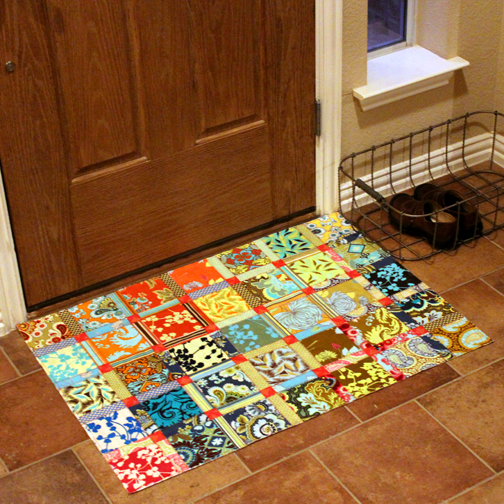 craftapple diy floor cloth