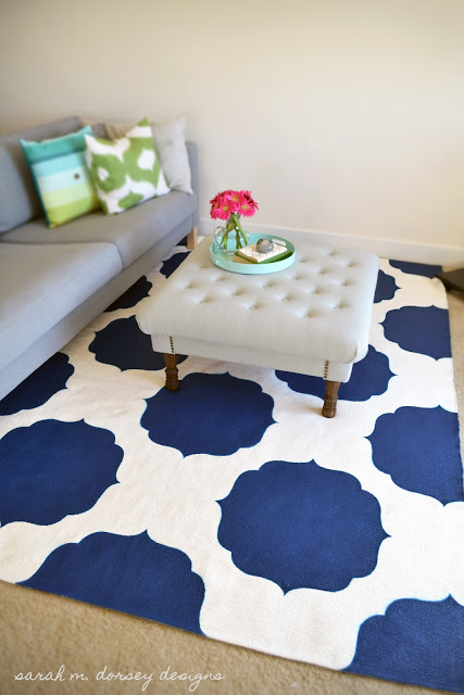 Painted Rug Sarah M Dorsey Designs