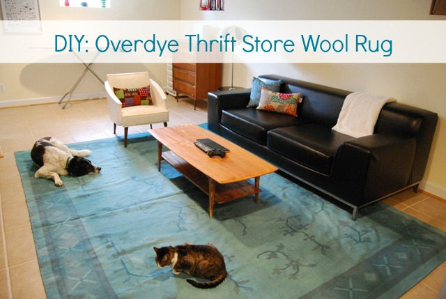Diy Try Overdye A Thrift Store Wool Rug The Borrowed