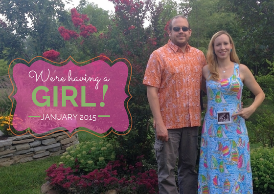 Baby Girl Announcement Photo