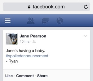 Ryan Spoiled Baby Announcement