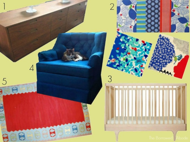 Primary Color Mid-century Nursery