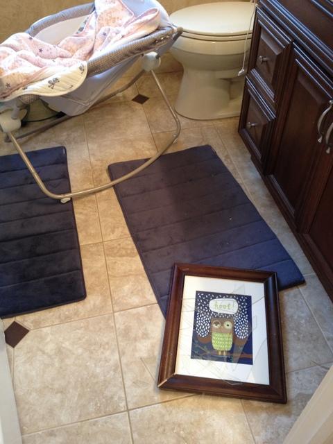 Bathroom Command Strip Fail