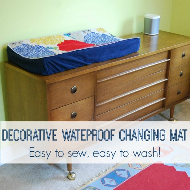 Decorative Easy-Change Waterproof Changing Pad Mat in Nursery