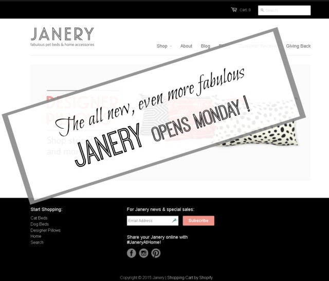 Janery Opens Monday