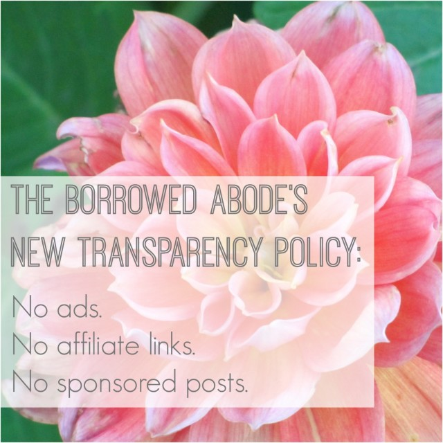 The Borrowed Abode Transparency Policy 2015