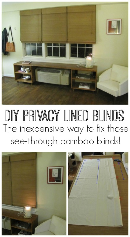 how to add a privacy liner to bamboo blinds so you can get the look for less