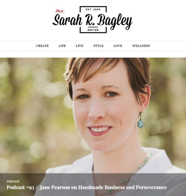 Sarah R Bagley Podcast Janery Episode 93 Handmade Business