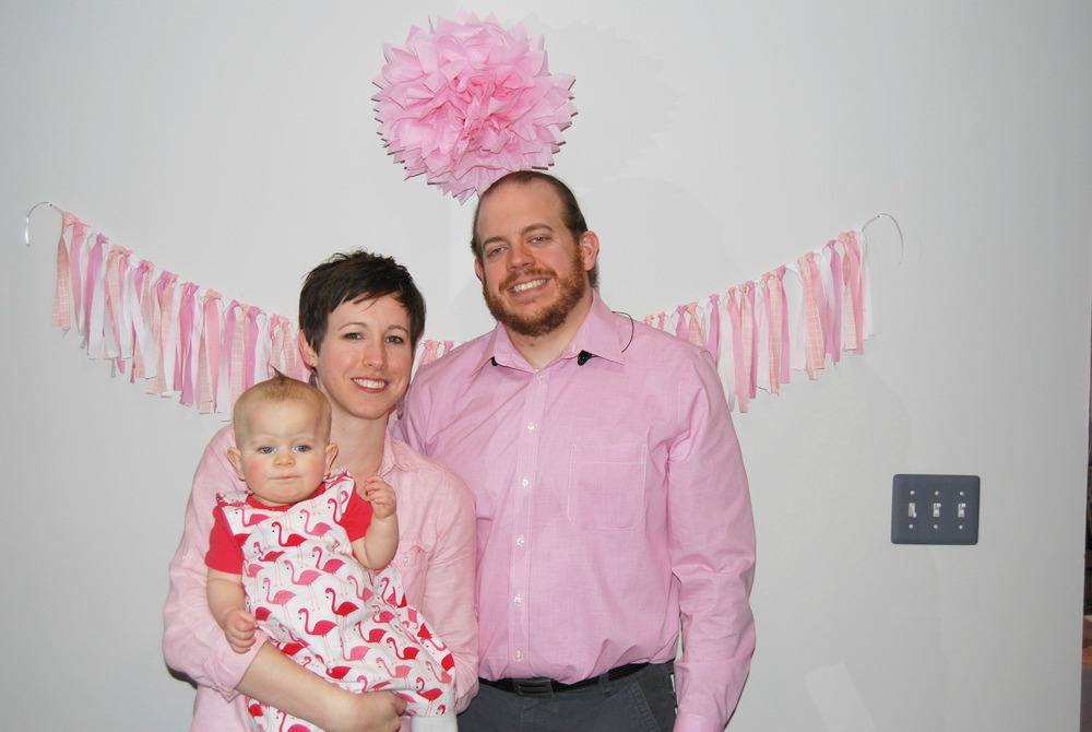 Sapling First Birthday Family Photo Flamingo Dress