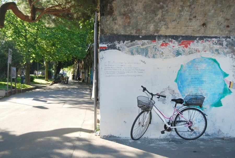 2016 Italy Levanto Bicycle Bridge Town Square