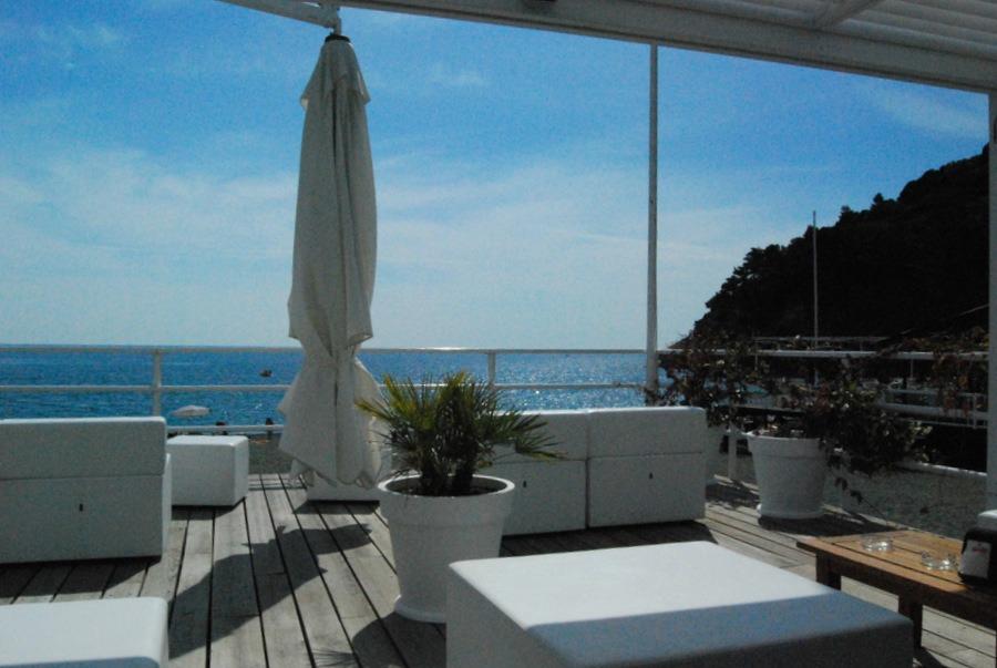 2016 Italy Bonassola Liguria Riviera Oceanfront Beach Club Lounge