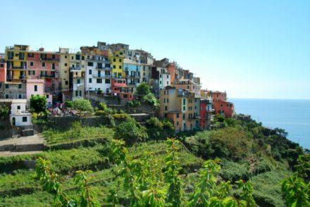 2016 Italy Corniglia Cinque Terre Pastel Houses