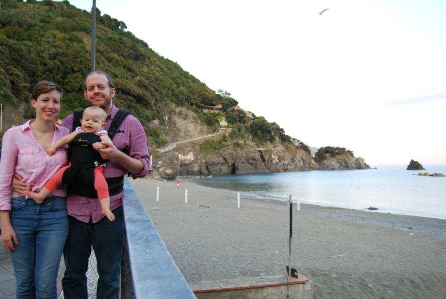 2016 Italy Monterosso Cinque Terre Family Beach