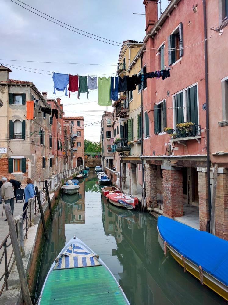 2016 Italy Venice Canal Castello Laundry