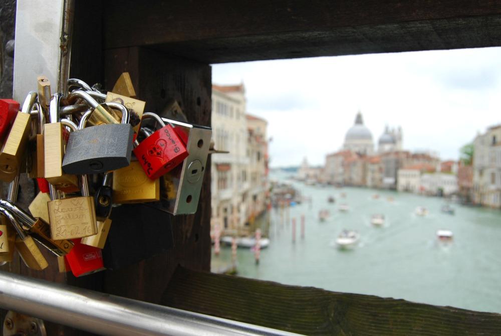 2016 Italy Venice Grand Canal Accademia Bridge Locks