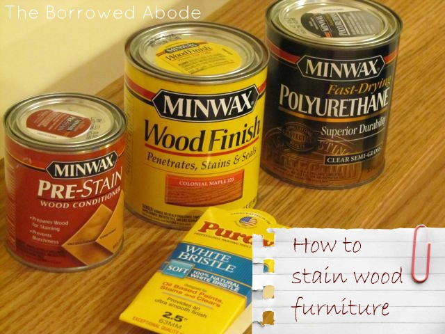How To Stain A Hardwood Table The