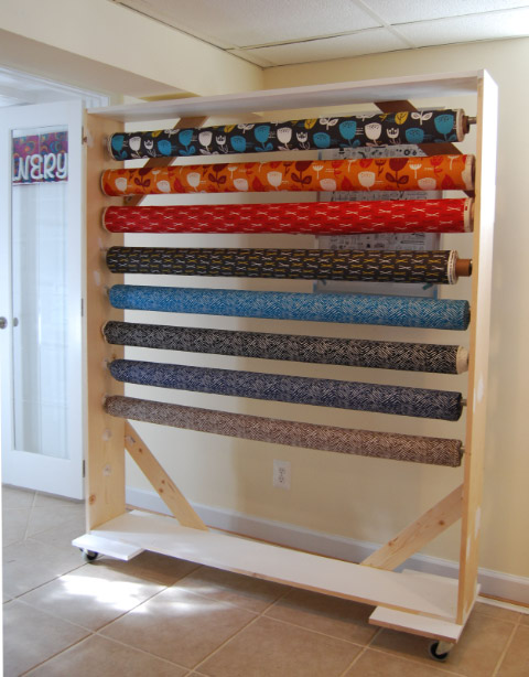 Diy Fabric Bolt Storage Rack 2 1